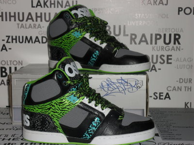 Heren Schoenen Osiris / Black Green