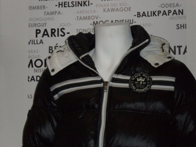 Heren Winterjas Black & White / Black